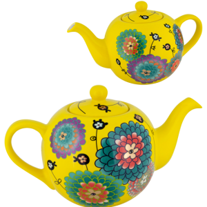 yellow - gift-stylish-teapot-partea