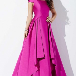 Off the Shoulder A Line Ballgown-32386-front