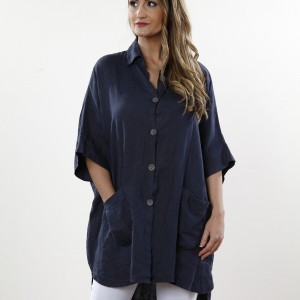 long navy shirt 1706