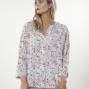 white floral top 1687